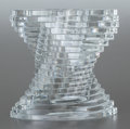 Decorative Arts, French:Other , A BACCARAT CUT GLASS TWIST VASE. 20th century. Marks: BACCARAT,FRANCE. 8-7/8 inches high (22.5 cm). ...