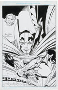 Original Comic Art:Covers, Bob Wiacek The Jack Kirby Collector #21 Cover (JackKirby/Mister Miracle Homage) Illustration Original Art (Two Mo...