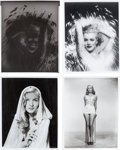 Memorabilia:Movie-Related, Marilyn Monroe and Veronica Lake Photo Group (undated).... (Total:4 Items)