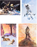 Memorabilia:Poster, Frank Frazetta Poster and Book Group.... (Total: 6 Items)