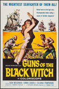 "Movie Posters:Adventure, Guns of the Black Witch & Other Lot (American International,1961). One Sheet (27"" X 41"") & Window Card (14"" X 22"").Adventu... (Total: 2 Items)"