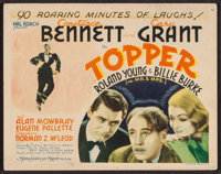 "Topper (MGM, 1937). Title Lobby Card (11"" X 14""). Comedy"
