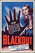 """Movie Posters:Adventure, Blackout (United Artists, 1940). One Sheet (27"""" X 41""""). Adventure....."""
