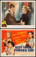 """Movie Posters:War, Keep Your Powder Dry & Other Lot (MGM, 1945). Title Lobby Card,& Lobby Card (11"""" X 14""""). War.. ... (Total: 2 Items)"""