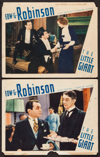 "The Little Giant (First National, 1933). Lobby Cards (2) (11"" X 14""). Crime. ... (Total: 2 Items)"