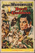 "Movie Posters:Adventure, Devil Goddess (Columbia, 1955). One Sheet (27"" X 41""). Adventure....."