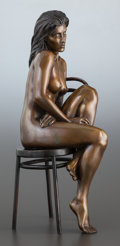 Sculpture, BILL MACK (American, b. 1949). Seated Female Nude, 1995. Bronze. 18-1/2 inches (47.0 cm) high. Inscribed on base: BILL...
