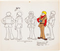 Animation Art:Color Model, Goober and the Ghost Chasers Gilly Color Model Animation Art(Hanna-Barbera, 1973)....