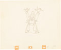 Animation Art:Production Drawing, Sleeping Beauty Makeshift Prince Production DrawingAnimation Art (Walt Disney, 1959)....