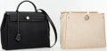 Luxury Accessories:Accessories, Hermes Black Canvas 30cm Herbag PM Tote Bag with Sac . ...