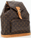 Luxury Accessories:Accessories, Louis Vuitton Classic Monogram Canvas Montsouris GM Backpack Bag. ...