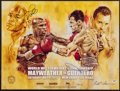 Boxing Collectibles:Autographs, 2013 Floyd Mayweather Vs. Robert Guerrero Signed Fight Poster....