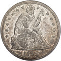 Seated Dollars, 1848 $1 AU55 PCGS....