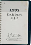 Football Collectibles:Others, 1997 Peyton Manning Handwritten & Signed Day Planner....