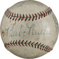 Autographs:Checks, Circa 1932 Babe Ruth & Lou Gehrig Signed Baseball....