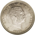 Coins of Hawaii: , 1883 25C Hawaii Quarter MS61 ANACS. Sharply struck and fullylustrous with attractive golden toning. The ANACS holder incor...