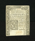 Colonial Notes:Connecticut, Connecticut June 19, 1776 1s Uncancelled Very Choice New. A crispand fresh example of this lovely uncancelled Connecticut n...