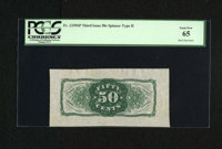 Fr. 1339SP 50¢ Third Issue Wide Margin Type II Spinner Back PCGS Gem New 65. Milton 3P50R.3. From our sale of the M...