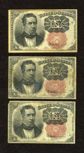 Fractional Currency:Fifth Issue, Fr. 1265 10c Fifth Issue. Two Examples. VG. Fr. 1266 10c FifthIssue VG.. ... (Total: 3 notes)