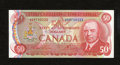 Canadian Currency: , BC-51a $50 1975.. Embossing is pronounced on this lightly handled$50 that carries the exquisite Royal Canadian Mounted Poli...