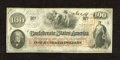 """Confederate Notes:1862 Issues, T41 $100 1862. This Scroll 2 note is of a much scarcer variety that is printed on """"J. Whatman"""" watermarked paper. A couple o..."""