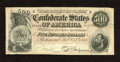 Confederate Notes:1864 Issues, T64 $500 1864. This always in demand note has paper clip rust outlines. A few pinholes are also noticed on this $500 with na...