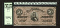 Confederate Notes:1864 Issues, T66 $50 1864. Original paper surfaces drape this $50. PCGS Choice About New 58PPQ....