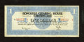 Honolulu, HI- Honolulu Clearing House Certificate $1 Mar. 10, 1933 This is a scarce piece of Depression Scrip from a rom...