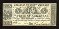 Obsoletes By State:Arkansas, (Little Rock), AR- State of Arkansas $10 Sep. 30, 1862 Criswell 54. Healthy edges and paper are merits of this $10 that has ...