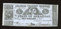 Obsoletes By State:Arkansas, (Little Rock), AR- State of Arkansas $10 Feb. 21, 1865 Criswell 56B. This Fine blue paper example has an approximate two...
