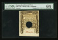 Colonial Notes:Connecticut, Connecticut March 1, 1780 20s Hole Cancel PMG Choice Uncirculated64 EPQ.. ...