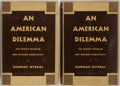 Books:Americana & American History, Gunnar Myrdal. An American Dilemma: The Negro Problem andModern Democracy. New York: Harper and Brothers, 1944....(Total: 2 Items)