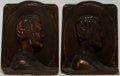 Books:Furniture & Accessories, [Bookends]. Pair of Cast Iron Bookends Featuring Abraham Lincoln.Some surface rubbing. Measures approximately 5.5 inches ta...(Total: 2 Items)