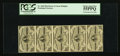 Fractional Currency:Third Issue, Vertical Strip of Five Notes Fr. 1226 3¢ Third Issue PCGS Choice About New 55PPQ.. ...