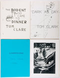 Books:Literature 1900-up, Tom Clark. Four Privately Published Works, All Signed by Clark. Allstaple-bound in the original wrappers. Very good or bett... (Total:4 Items)