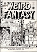 Original Comic Art:Covers, Al Feldstein Weird Fantasy #6 Robot Cover Original Art (EC,1951)....