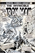 Original Comic Art:Covers, John Romita Sr. and Mike Esposito Iron Man #65 Cover Original Art (Marvel, 1973)....