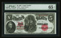 Large Size:Legal Tender Notes, Fr. 88* $5 1907 Legal Tender PMG Gem Uncirculated 65 EPQ.. ...