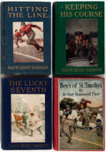 Books:Literature 1900-up, [Juvenile Fiction]. Group of Four Illustrated Sports Novels forBoys. Includes three books by Ralph Henry Barbour and one by...(Total: 4 Items)