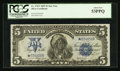 Large Size:Silver Certificates, Fr. 278* $5 1899 Silver Certificate PCGS About New 53PPQ.. ...