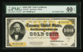 Large Size:Gold Certificates, Fr. 1215* $100 1922 Gold Certificate PMG Extremely Fine 40 EPQ.....