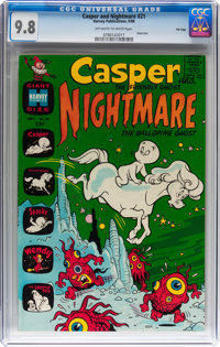 Casper and Nightmare #21 File Copy (Harvey, 1968) CGC NM/MT 9.8 Off-white to white pages