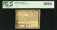 New Jersey June 9, 1780 $5 PCGS Choice About New 58PPQ