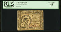Continental Currency May 9, 1776 $8 PCGS Extremely Fine 45
