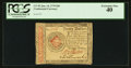 Colonial Notes:Continental Congress Issues, Continental Currency January 14, 1779 $20 PCGS Extremely Fine 40.....
