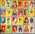 Football Cards:Sets, 1957 Topps Football Partial Set With Unitas (109/154). ...