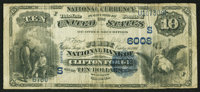 Clifton Forge, VA - $10 1882 Value Back Fr. 577 The First NB Ch. # (S)6008