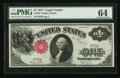 Low Serial Number Fr. 36 $1 1917 Legal Tender PMG Choice Uncirculated 64