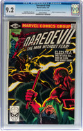 Modern Age (1980-Present):Superhero, Daredevil #168 (Marvel, 1981) CGC NM- 9.2 Off-white to whitepages....