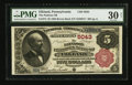National Bank Notes:Pennsylvania, Elkland, PA - $5 1882 Brown Back Fr. 474 The Pattison NB Ch. #5043. ...